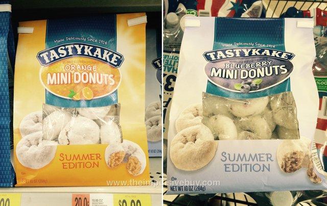 Tastykake Summer Edition Orange and Blueberry Mini Donuts