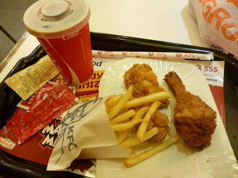 KFC in Istanbul has Coke, not Pepsi like back home.