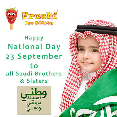 Happy #National Day to #Saudi Arabia by Freshi Ice Sticks Jeddah Saudi Arabia