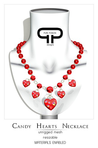Pure Poison - Candy Hearts Necklace
