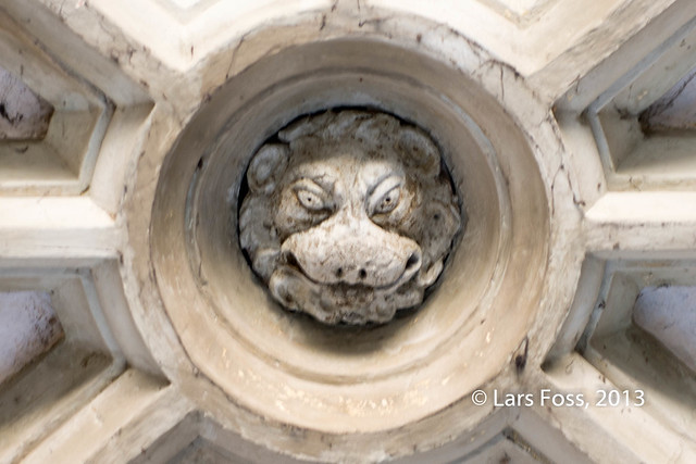 Lion head in Tower of London