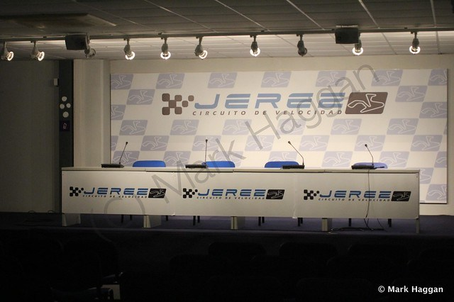 The presentation room at Jerez motor racing circuit