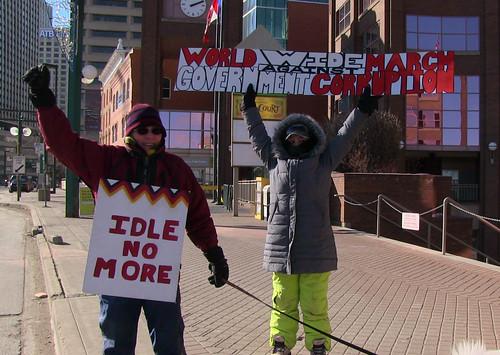 Omnibus March Against Stephen Harper - Edmonton