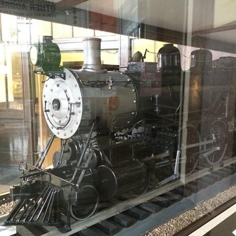 1909年から1983年まで使われていた汽車の模型。