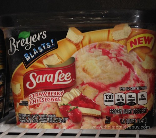 Breyers Blasts! Sara Lee Strawberry Cheesecake