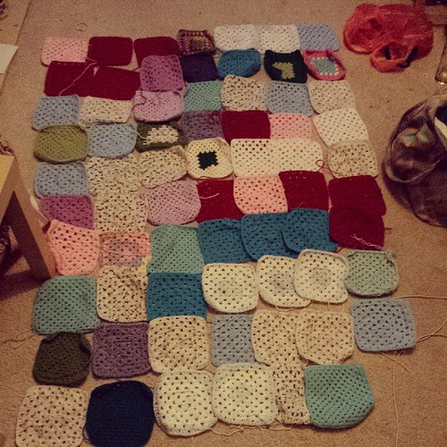 Man! That's nuts! And we're no where near finished! #macmillan #blanket