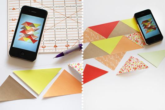 DIY: Paper Patchwork Art