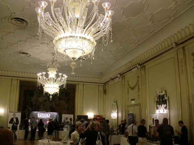 Chandeliers and champagne