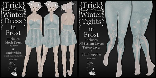 {Frick} Winter Dress & Tights in Frost