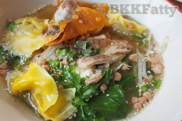 vegetarian fake meat noodles in Rayong