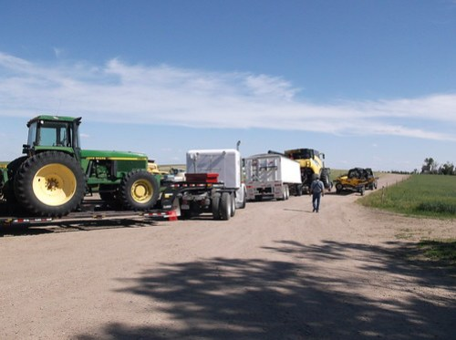 Part of convoy all loaded up