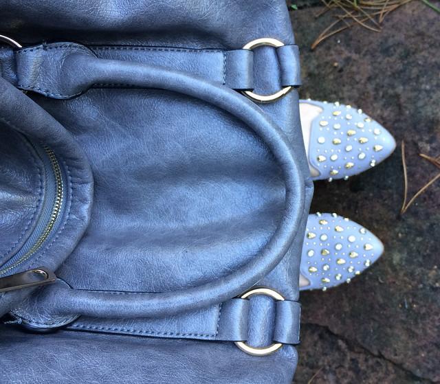 Bag and Shoes grey skulls