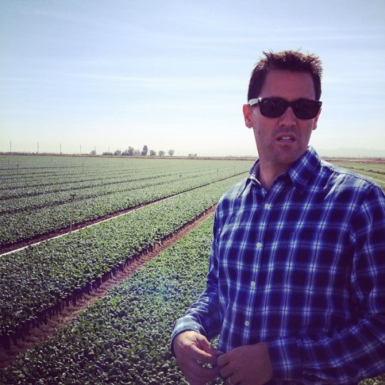 Spinach as far as the eye can see!  With grower JP La Brucherie #love #spinach #cfwcfarmtour