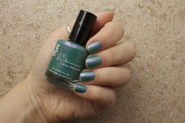 04 KBShimmer Teal Another Tail with 2 coats Eva Mosaic topcoat