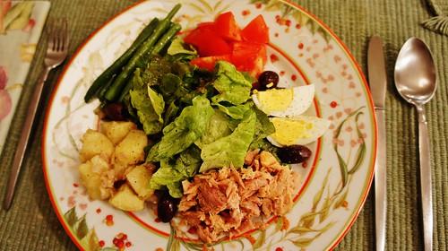 At Home:  Salade Niçoise
