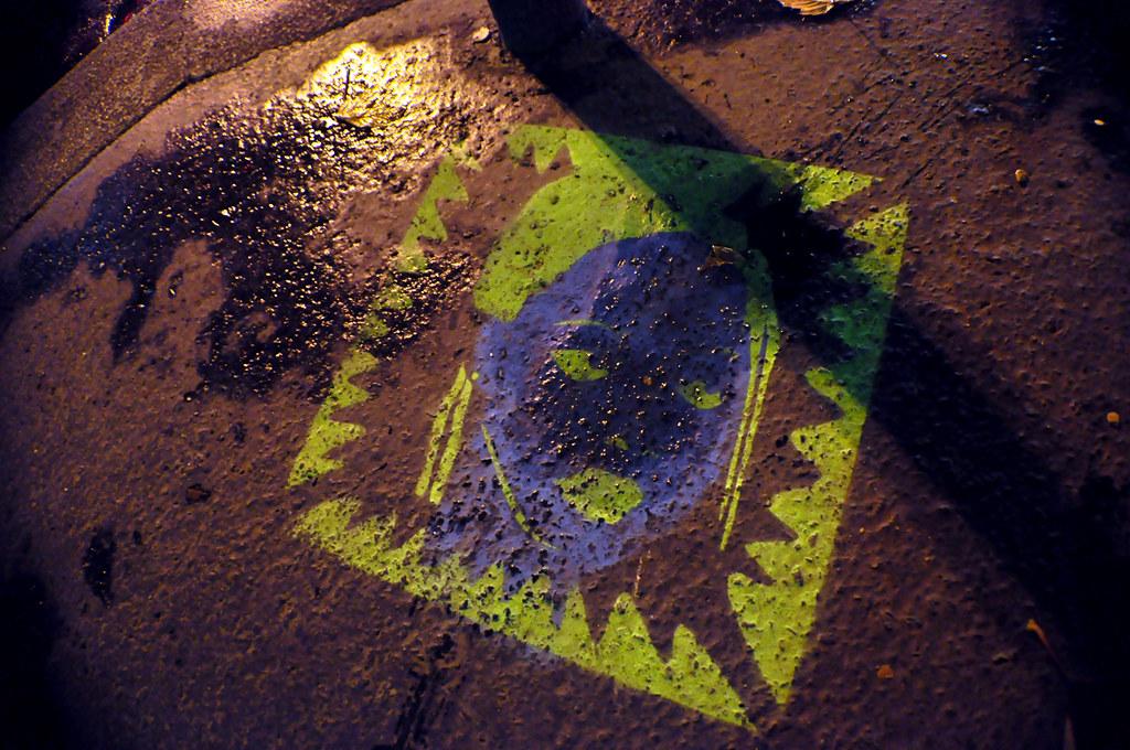 Blue Head and Green Hair stencil