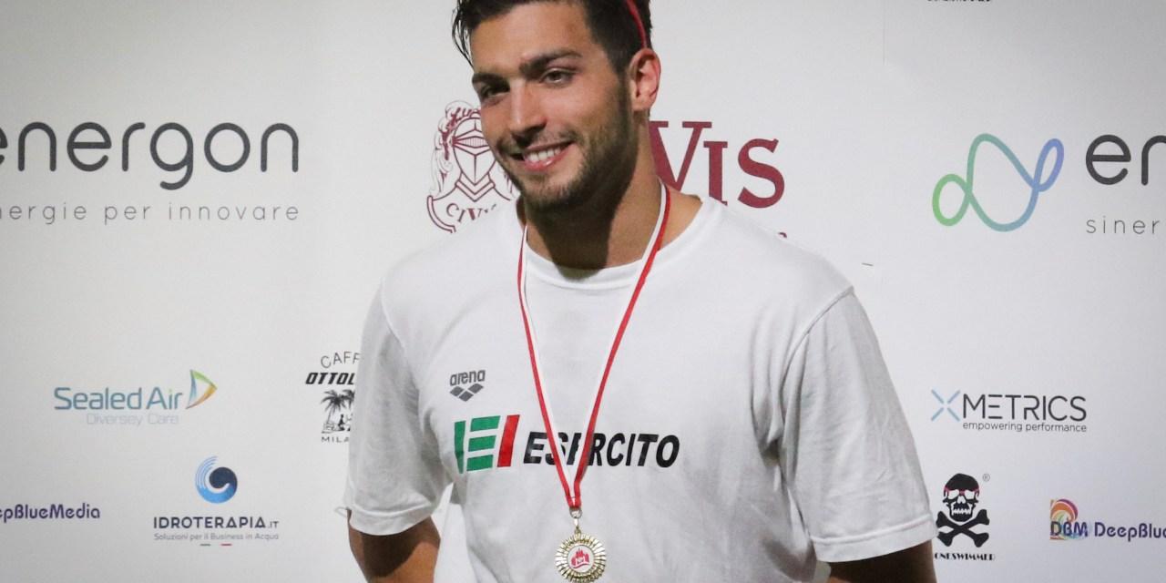 Un Gabriele Detti in versione Mondiale al 7° Trofeo Città di Milano