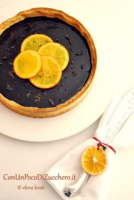 Crostata di arance e cioccolato