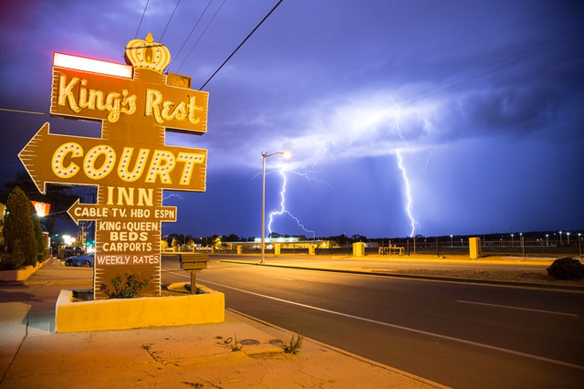 King's Rest Court Inn - 1452 Cerrillos Road, Santa Fe, New Mexico U.S.A. - July 25, 2013