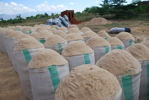 rice bran waiting to be used