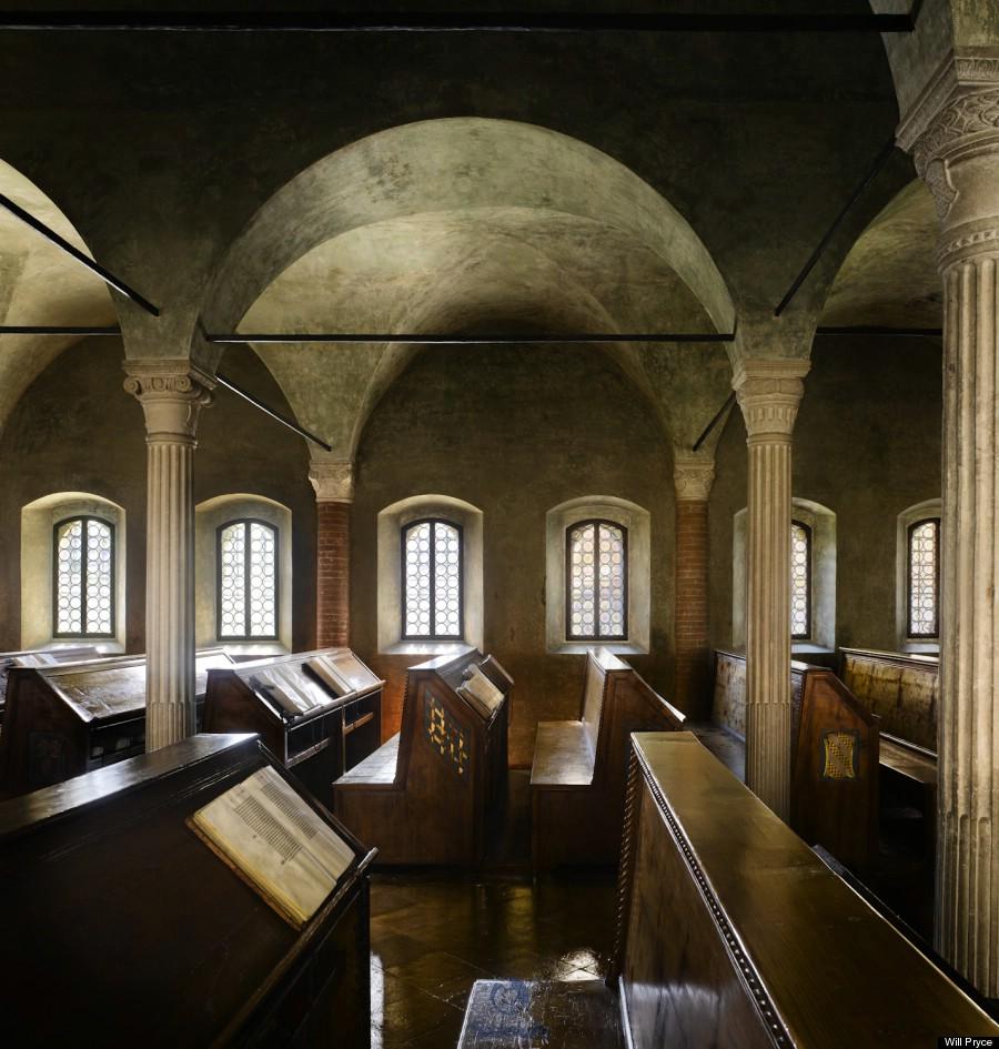 The Biblioteca Malatestiana in Cesena, Italy