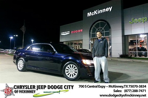 Thank you to Deandray Mcdaniel on your new 2012 #Chrysler #300 from Lyon Alizna and everyone at Dodge City of McKinney! #NewCar by Dodge City McKinney Texas