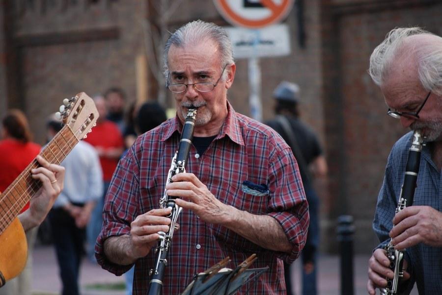 Flautista en Recoleta