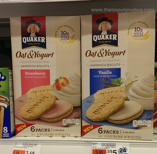 Quaker Oat & Yogurt Sandwich Biscuits
