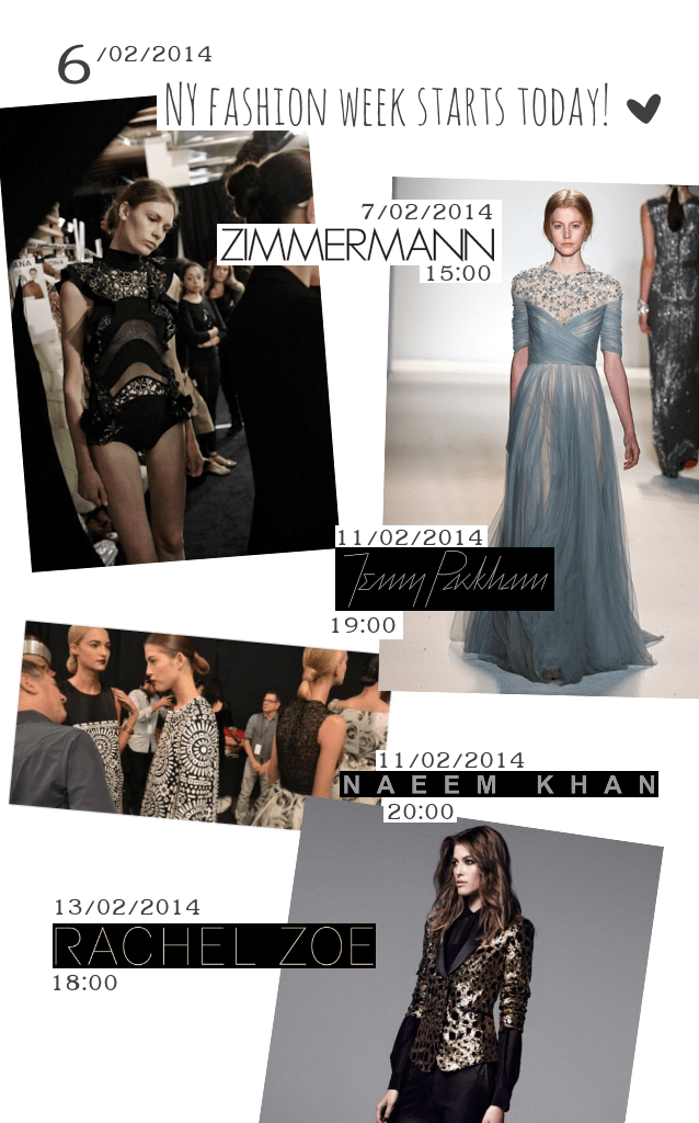 NYC fashion week 2014