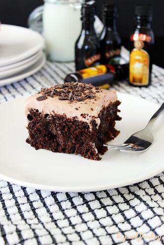 Mudslide Poke Cake https://beyondfrosting.wordpress.com
