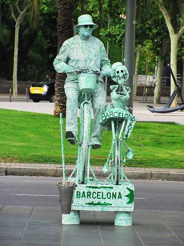 Barcelona, La Rambla Mime
