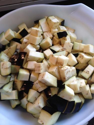 Eggplant dirty rice