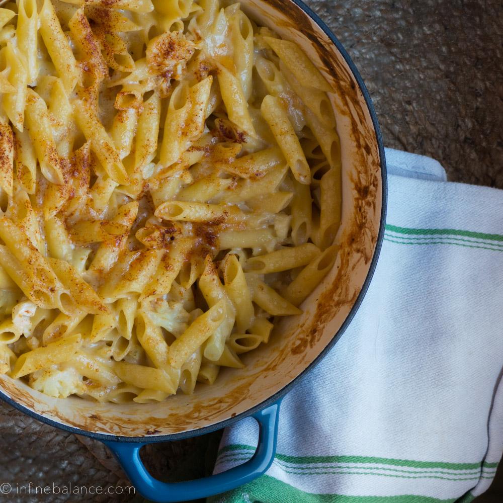 Cauliflower Mac & Cheese   www.infinebalance.com #meatlessmonday #vegetarian