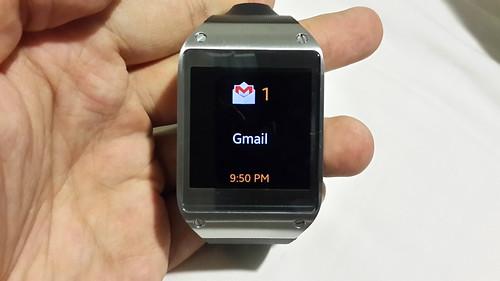 การแจ้งเตือนบน Samsung Galaxy Gear