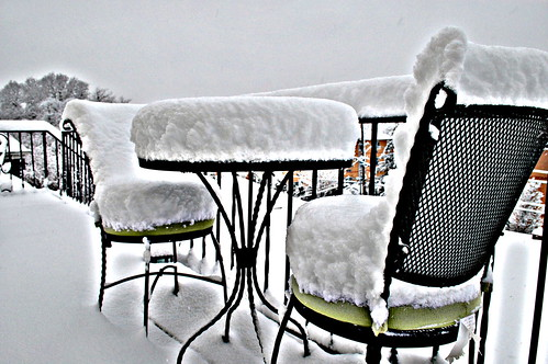 Table for Two - Snowing Section by Brian Williamsen