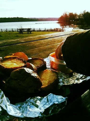 potato and ketchup picnic