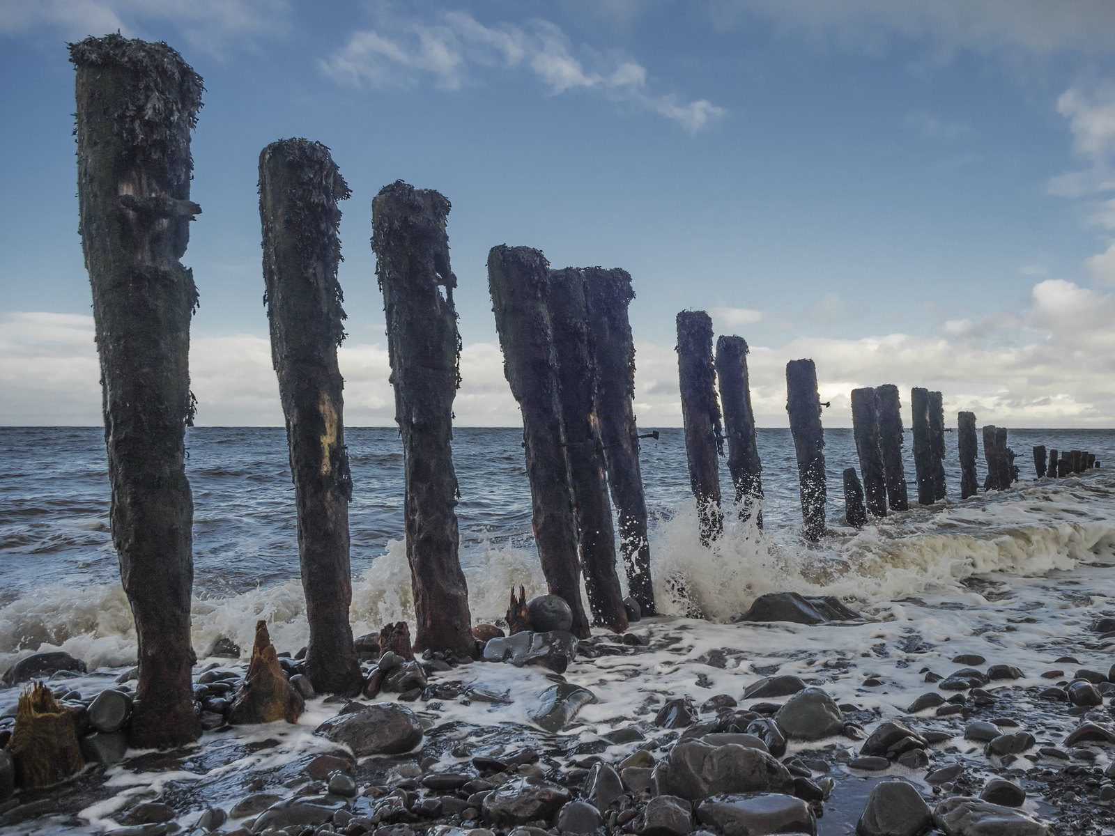 Almost Monumental Posts at Porlock Weir