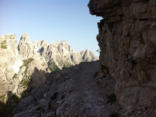 Alpinisteig, Beginn des Klettersteigs
