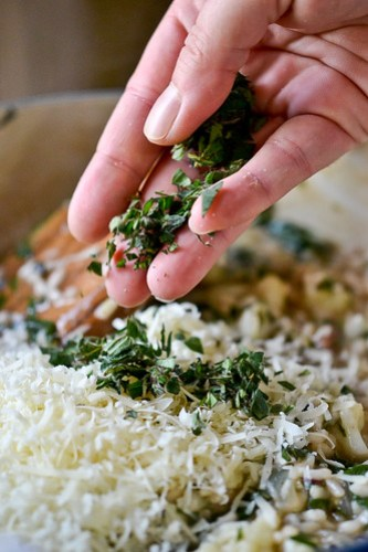 Cauliflower, Onion and Greens Risotto-5