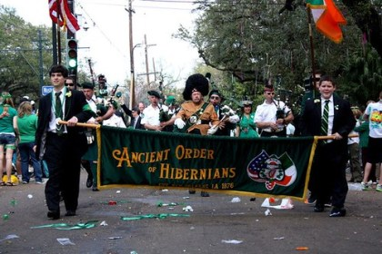 Hibernians new orleans parade st patricks day