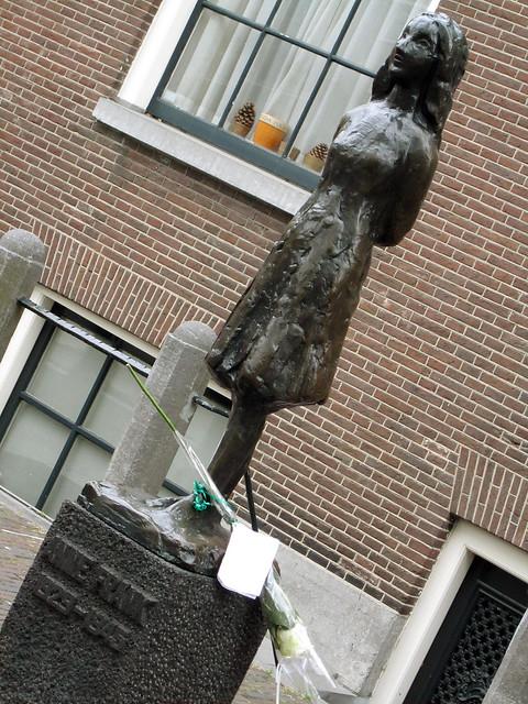 Anne Frank statue, Amsterdam.
