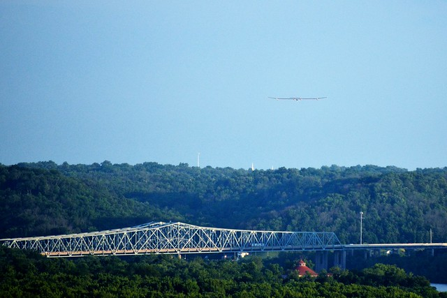 Solar Impulse Over the Bridge