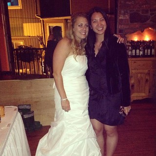 Mei and Katy at the wedding