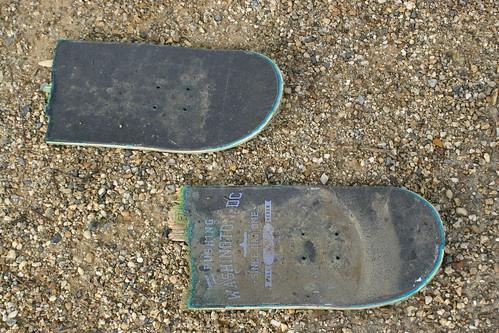Broken skateboard in DC
