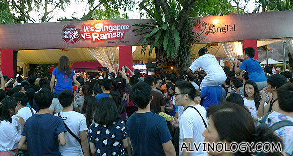 Singaporeans love food - look at the crowd this event drew