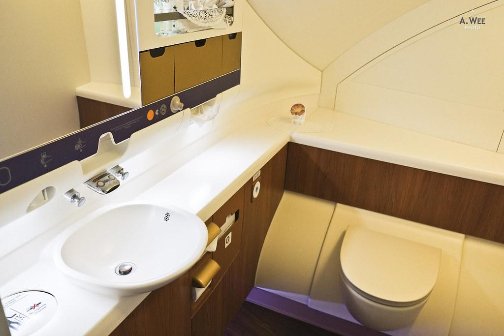 Spacious Washroom on the A380