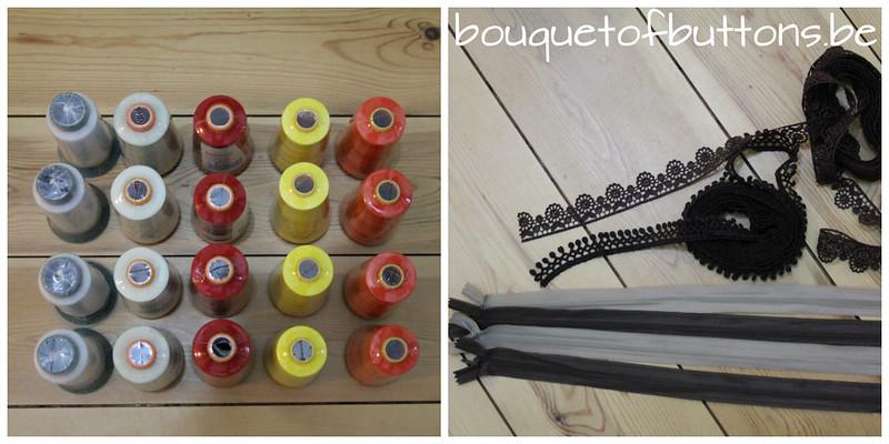 garen, thread, rits, zipper, lint, ribbon