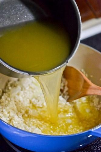Broccoli-Cheddar Oven Risotto-4