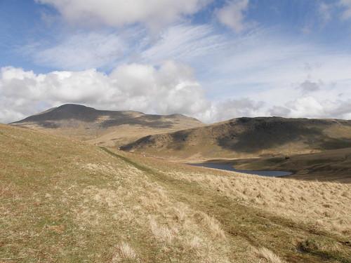 Scafell, Great How above Burnmoor Tarn