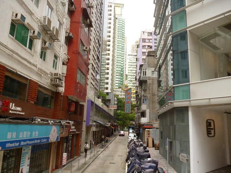 Looking at Hong Kong from above